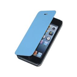 Etui błękitne na iPhone 5/5S - Otwierane