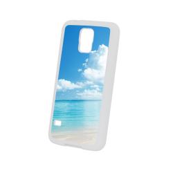 Etui na Samsung Galaxy S5 Białe Gumowe