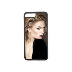 Etui na iPhone 7 Plus czarne gumowe