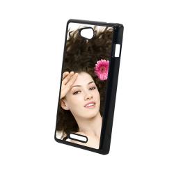 Etui na Sony Xperia C S39H Plastikowe Czarne