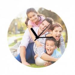 Zegar szklany średnica 20 cm z własnym nadrukiem