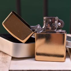 Zapalniczka na benzynę złota z własnym nadrukiem