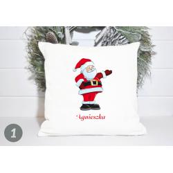 Poduszka świąteczna z imieniem MIKOŁAJ rożne WZORY
