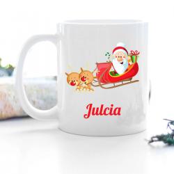 Kubek świąteczny PREZENT NA MIKOŁAJKI z imieniem