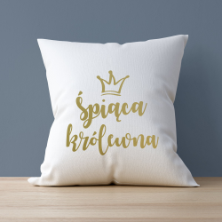 """Poduszka dla niej z nadrukiem """"Śpiąca królewna"""""""