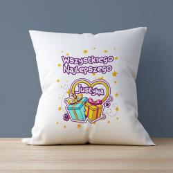 Poduszka personalizowana na urodziny z imieniem