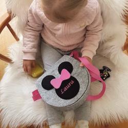 Torebka myszka z imieniem Twojego dziecka + Klapka