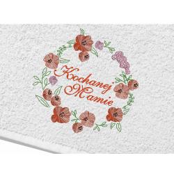 Ręcznik dla Kochanej Mamy - 70x140 HAFT