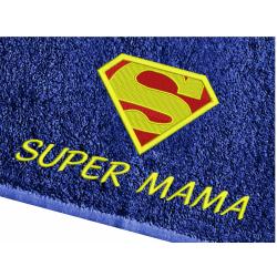 Ręcznik Super Mama - 70x140 HAFT